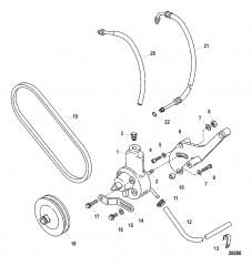 Схема Насос гидроусилителя рулевого механизма в сборе