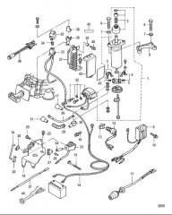 Схема Electrical Components Electric Start Models