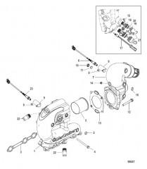 Схема Выхлопной коллектор и коленчатый патрубок Рядный и реверсивный V-приводы