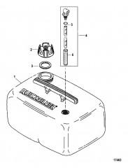 Схема Топливный бак (6.6 галл.) 25 л Резьбовой фитинг (не соотв. US-EPA)