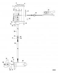 Двигатель для тралового лова в сборе (Brute 70, цифровой) (24 В)