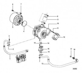 Схема Turbocharger and Air Filter Assembly