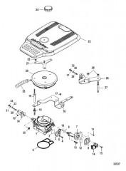 Схема Корпус дроссельной заслонки Механический