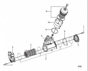 Схема Компоненты маслоохладителя и фильтра