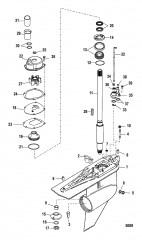 Схема КАРТЕР РЕДУКТОРА (ВЕДУЩИЙ ВАЛ)(СТАНДАРТНОЕ ВРАЩЕНИЕ)