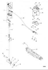 Схема Двигатель для тралового лова в сборе Ножное управление, регулировка скорости до 5