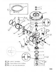 Схема Коленчатый вал (15)(9.9-С/Н-USA-0G112450/BEL-9831800 и выше)