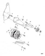 Схема Генератор и кронштейн (Delco)