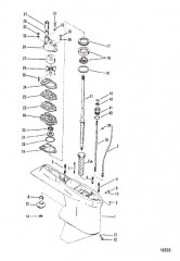 Схема Картер редуктора (Ведущий вал – № отливки 1674-814247C)