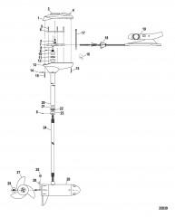 Двигатель для тралового лова в сборе (Модель BD36FB) (12 В)