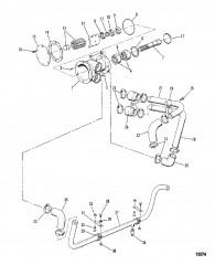 Схема Насос для забортной воды (Поворотно-откидная колонка)