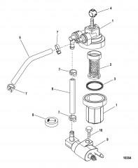 Топливный фильтр в сборе (USA-1B153168/BEL-0P360021 и выше)