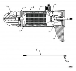 Lower Unit Assembly (FW70 - Variable Sonar)(8M0052758)