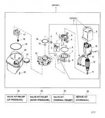 Схема НАСОС/ДВИГАТЕЛЬ (РЕЗЕРВУАР С НИЖНИМ КРЕПЛ.) (КОНСТРУКЦИЯ I – 14336A8)