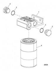 Схема Комплект фильтра (выносной) (Отделение воды/топлива)