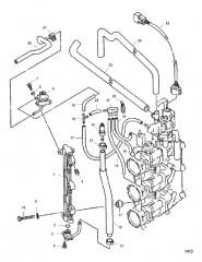 Схема Прокладка шлангов корпуса дроссельной заслонки