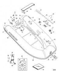 Схема Quicksilver Ocean Runner (хайпалон) – модель 290 (2010 / 2011)