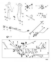 Схема Кронштейн переключения передач Цифровое управление газом и реверсом