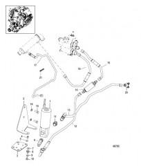 Схема Топливный насос и топливопроводы
