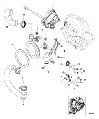 Схема Турбонагнетатель Переходник перепускной заслонки