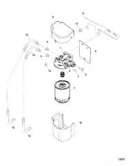 Схема Топливный фильтр/сепаратор воды