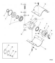 Схема Опора подшипника карданной передачи