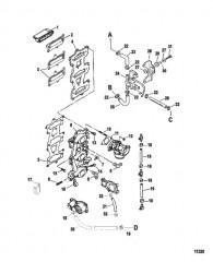 Схема Пластина и впускной коллектор