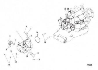Схема Выхлопная труба QSM
