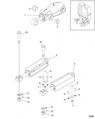 Цилиндры системы дифферента и рулевого механизма