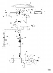 Двигатель для тралового лова в сборе (Модель FW54HP) (12 В)