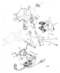 Компоненты электрической панели С/н 1E051473 и ниже