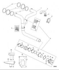 Комплект выводящей трубы глушителя X-Haust Сдвоенный выход левого борта