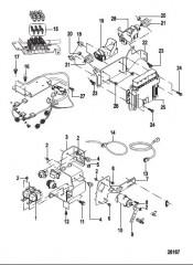 Схема Электрические компоненты Блок управления и кронштейны