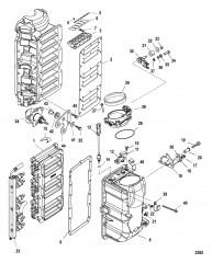 Компоненты блока подачи воздуха (Серийный номер 0T818120 и выше)