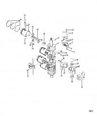 Схема Коленчатый вал Поршни и соединительные стержни