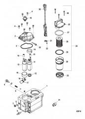 Схема Компоненты топливного модуля – Bravo (С/н 1A349419 и ниже)