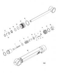 Схема Компоненты цилиндра системы дифферента