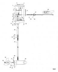 Двигатель для тралового лова в сборе (Модель FW54FBV) (12 В)