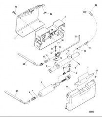 Схема Топливный насос и охладитель топлива