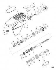 Схема Картер редуктора Мокрый поддон SSM VI – Гребной вал (до 1998 г.)