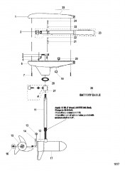 Двигатель для тралового лова в сборе (Модель GWB36 / GWT36) (12 В)