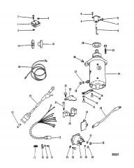 Схема СТАРТЕР, ВЫПРЯМИТЕЛЬ И ЭЛЕКТРОПРОВОДКА  (ТОЛЬКО ЭЛЕКТРИЧ.)