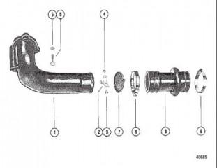 Схема Выхлопной коленчатый патрубок в сборе (MCM)