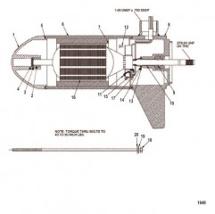 Схема Нижний блок в сборе (38# – с регулировкой скорости до 5/2) (M899415T)