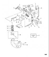Турбонагнетатель/выхлопной коленчатый патрубок (Старая конструкция)