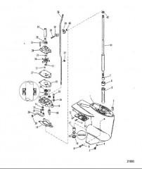 Схема Картер редуктора (Ведущий вал)(передаточное число 2.00:1)