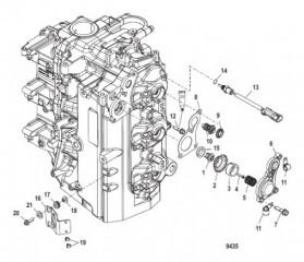 Установка тарельчатого клапана/термостата