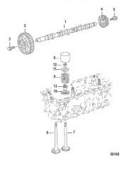 Схема КОМПОНЕНТЫ ДВИГАТЕЛЯ Распределительный вал и клапаны