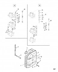 Схема Пластина аттенюатора