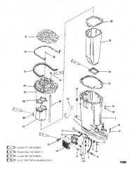 Корпус ведущего вала и выхлопная труба